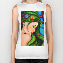 Emerald Mermaid  Biker Tank