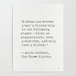 Anton Chekhov, The Three Sisters quote Poster