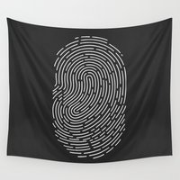 playstation Wall Tapestries featuring Fingerprint by eARTh