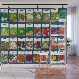Veggie Seeds Pattern Wall Mural