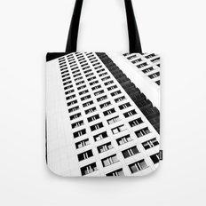 Berlin skyscraper architecture photography in black and white Tote Bag