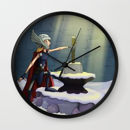 If He Be Worthy Wall Clock