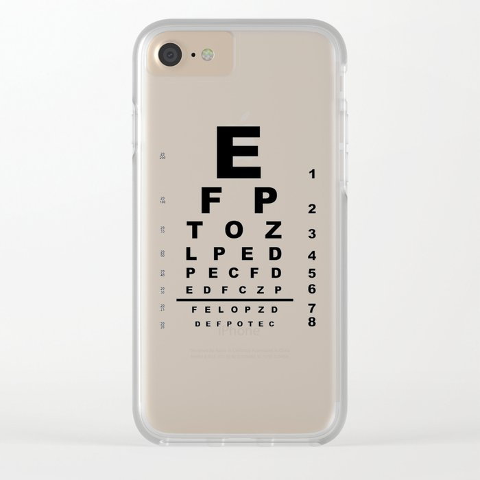 Eye Test Chart Clear Iphone Case By Homestead Society6