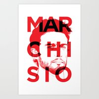juventus Art Prints featuring MARCHI by Vectdo