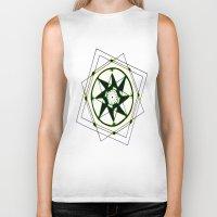 compass Biker Tanks featuring Compass by Isa Gutierrez