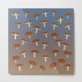 Fairy Mushroom Fields Metal Print