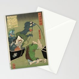 The Greedy Old Woman with a Box of Demons Stationery Cards