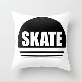 Skate the circle Throw Pillow