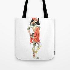 Floral Pin Up Girl Tote Bag