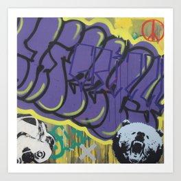 Graffiti Abstraction #4 Art Print