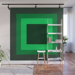 Dark Green Square Design 2 Wall Mural