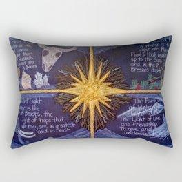 The Four Lights of Winter Rectangular Pillow