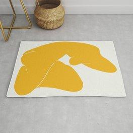 Virgo nude in yellow Rug