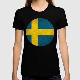 Sweden flag, circle T-shirt