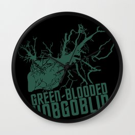 Green-blooded Hobgoblin Wall Clock