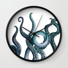 Kraken Teal Wall Clock