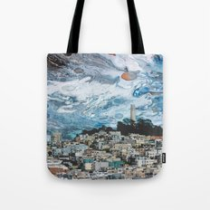Starry Coit Tower Tote Bag