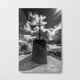 Station Square,Portrush,Ireland,Northern Ireland,B&W Metal Print