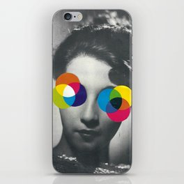 Psychedelic glasses iPhone Skin