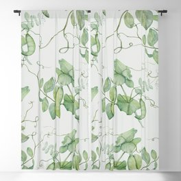 Floating Peas Blackout Curtain