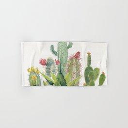 Cactus Watercolor Hand & Bath Towel