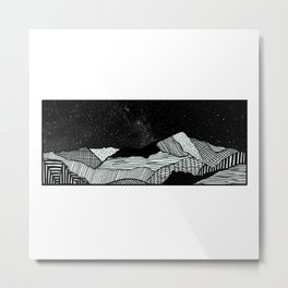 Snowdon Mountain Drawing Metal Print