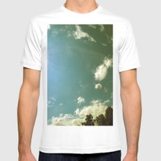 Field White MEDIUM Mens Fitted Tee