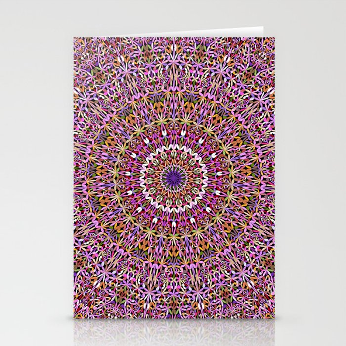 Colorful Spiritual Garden Mandala Stationery Cards