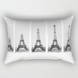 1888-1889 The Rise of the Eiffel Tower Construction Sequence black and white photography Rectangular Pillow