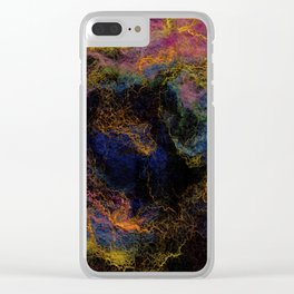 Abstract Nebula K3 Clear iPhone Case