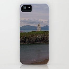 View Towards Twr Bach Lighthouse iPhone Case