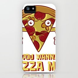 Pizza Funny fight food mushrooms salami fan gift iPhone Case