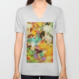 A distorted impact Unisex V-Neck