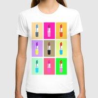lipstick T-shirts featuring Lipstick by Scout Garbaczewski