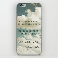sylvia plath iPhone & iPod Skins featuring Sylvia: Air by Leah Flores