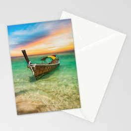 Longboat Sunset Thailand Stationery Cards