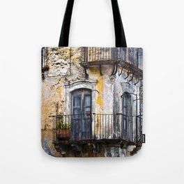 Urban Sicilian Facade Tote Bag