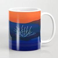 desert Mugs featuring Desert by lillianhibiscus