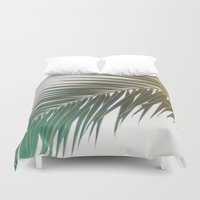 palm tree Duvet Covers featuring palm tree by iulia pironea
