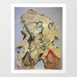 Burning up Depression Art Print