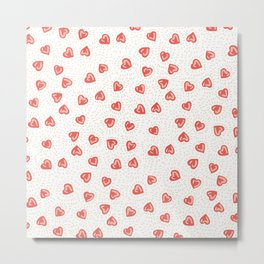 Sparkly hearts Metal Print