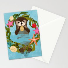 Sea Otter Holiday Card Stationery Cards