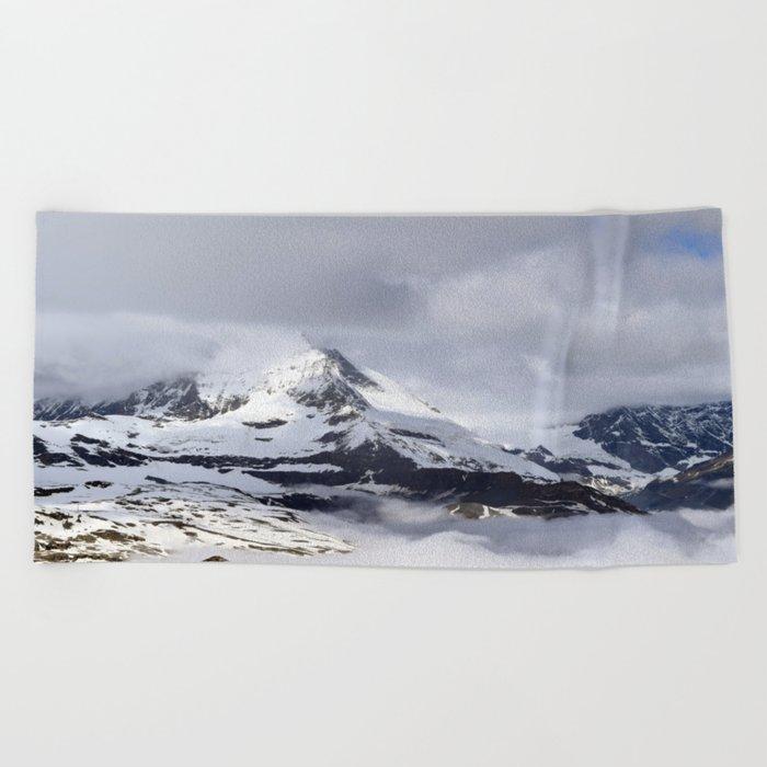 Mountain meets Clouds Beach Towel