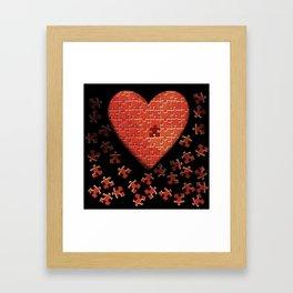 Puzzle Heart Framed Art Print