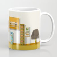 budapest hotel Mugs featuring The Grand Budapest Hotel  by Daniel long Illustration