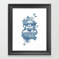 Spacewolf Framed Art Print