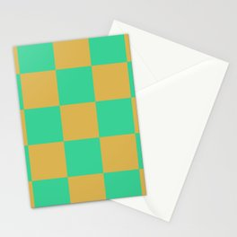 retro chess pattern Madremonte Stationery Cards