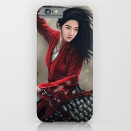 Chinese Female Warrior Mulan iPhone Case