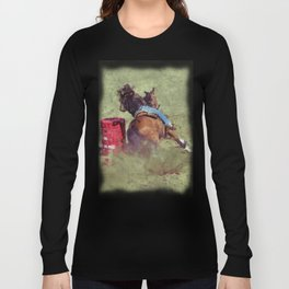 The Barrel Racer - Rodeo Horse and Rider Long Sleeve T-shirt