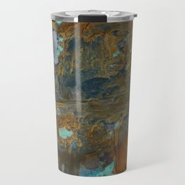 Blue Lagoons in Rusty World Travel Mug